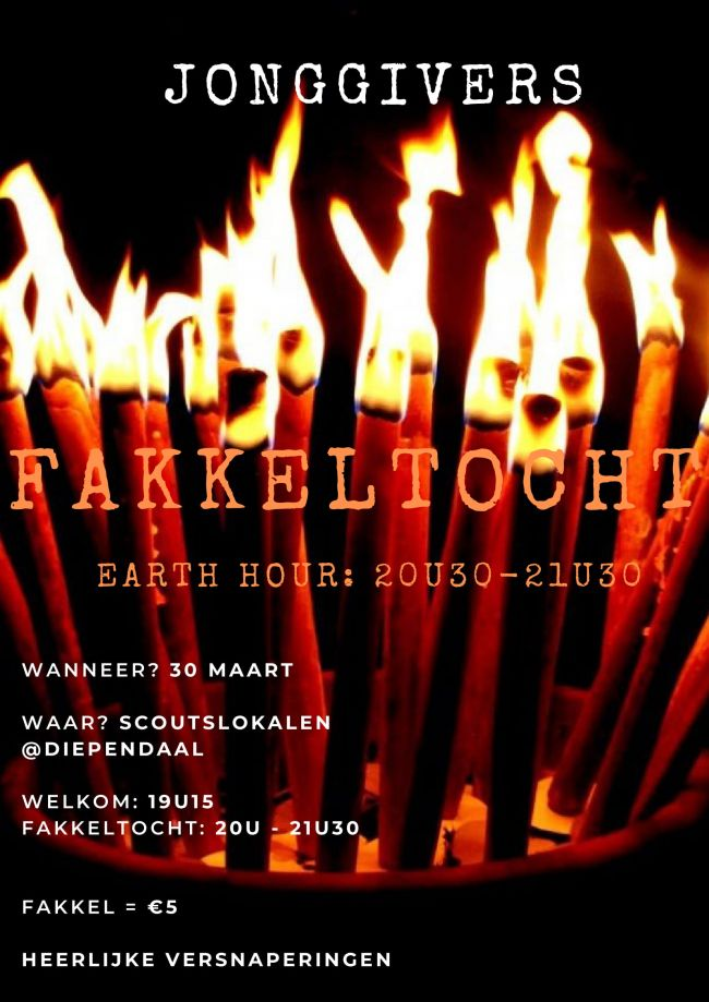 Fakkeltocht earth hour